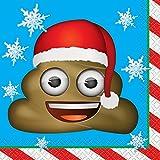 """5""""Emoji Navidad papel servilletas, Paquete de 16"""