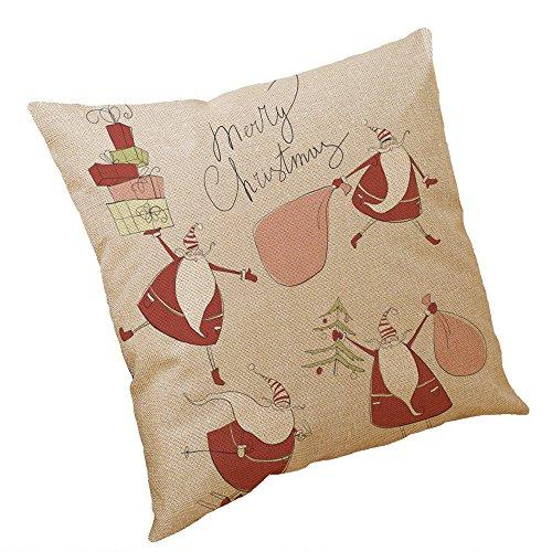 Lucky Mall Weihnachten Baumwolle Leinen Kissenbezug Sofa Kissenbezug Home Decor