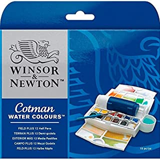Winsor & Newton Campo Plus Cotman Set de acuarela, caja exterior más 12 medio Godets (B000PD3LY4) | Amazon price tracker / tracking, Amazon price history charts, Amazon price watches, Amazon price drop alerts