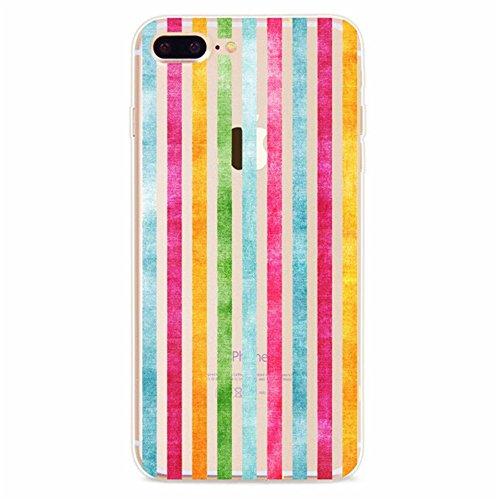 Coque iPhone 7 Plus, Vanki® Absorption des chocs Ultra Mince TPU Bumper Protection Goutte,aux rayures pour iPhone 7 Plus-motifs géométriques 4