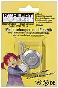Kahlert 10.348 luz - Muñeca Mini Accesorios - Lámpara de Pared LED mattsilber