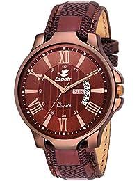 Espoir Analog Brown Dial Men's Watch-LS5098-2