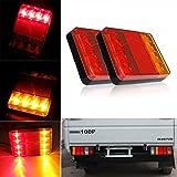 luces de cola LED Lamparas de luz trasera Junta freno de cola de indicador lampara de remolque carro y camion