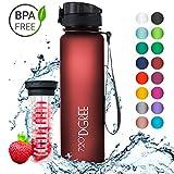 720°DGREE Trinkflasche 'uberBottle' - 1 Liter, 1000ml, Rot | Neuartige Tritan Wasser-Flasche |...