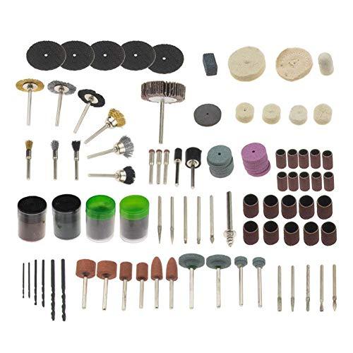Kit de accesorios de herramientas giratorias, 147 piezas multiherramienta giratoria para pulir perforaciones, tallar y lijar, bricolaje, hobby, trabajos de carpintería, multifunción.