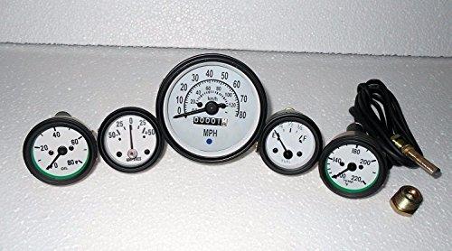 Desconocido Willys Jeep MB GPW CJ/® CJ2A MB CJ3A y principios CJ3B Kit de medidores para veloc/ímetro mph KPH Temperatura Aceite de amperaje de Combustible GPW