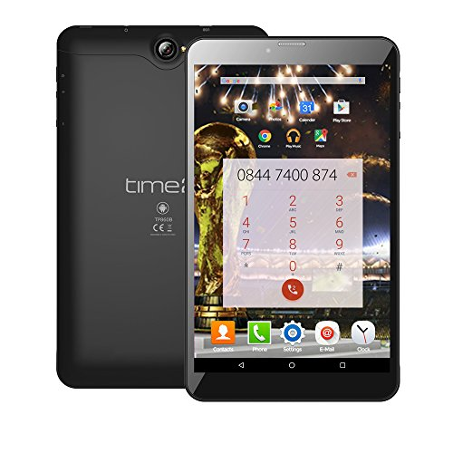 Time2 8 Zoll Tablet PC Android 7.0 Nougat, 3G Dual SIM entsperrt Phablet, GMS Google zertifizierte Tablet, IPS HD, GPS, Dual-SIM, 16GB, bis zu 256GB SD-Kartenspeicher, 5MP Kamera, Bluetooth/WiFi/ WLAN Tablet-Computer *Modell 2018 (8 Zoll Tablet)