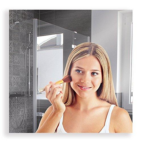 Artland Qualitätsspiegel I Spiegel Wandspiegel 70 x 70 cm Modern Rechteckig Garderobenspiegel Rahmenlos Ankleidezimmer Flurspiegel Silber B8JP