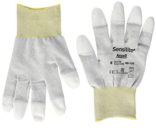 Ansell SensiLite 48-135 Gants pour usage spécifique, protection mécanique, Blanc, Taille 8 (Sachet de 12 paires)