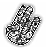 folien-zentrum Shocker Hand Auto Aufkleber JDM Tuning OEM Dub Decal Stickerbomb Bombing Fun w