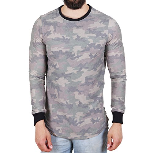 Dirty Scorpion Sweat Langarmshirt Grün Camouflage Grün