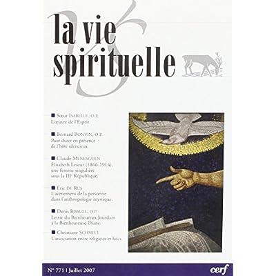 La Vie Spirituelle numéro 771