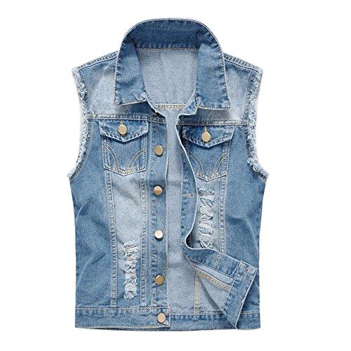 29ce35a31977 semen Herren Weste Slim Fit Beiläufige Cowboy Weste im Modern Design  Jeansweste Ärmellose Jeansjacke Jeansweste Coat