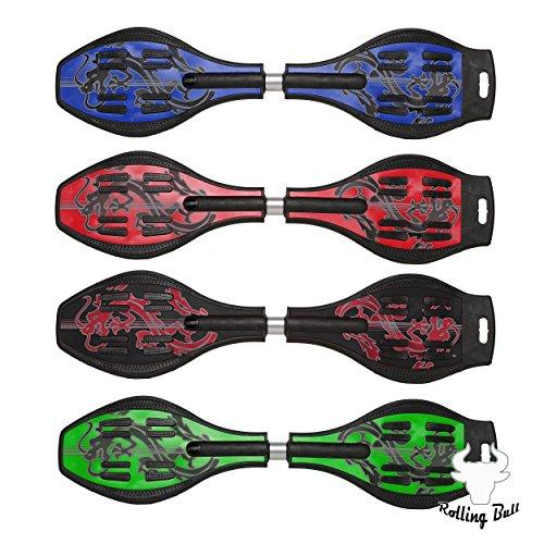 Waveboard Flexboard Casterboard - Farbe pink - inkl. Tasche + LED Rollen -