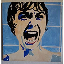 PSYCO QUADRO MODERNO JANET LEIGH PANNELLO MOVIE ART LEGNO MDF DIPINTO A MANO