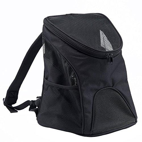 Kaka Mall Pet Carrier Rucksack Carry Bag Top Eröffnung Outdoor Aktivitäten wasserdicht Soft Mesh Material(S,Schwarz)