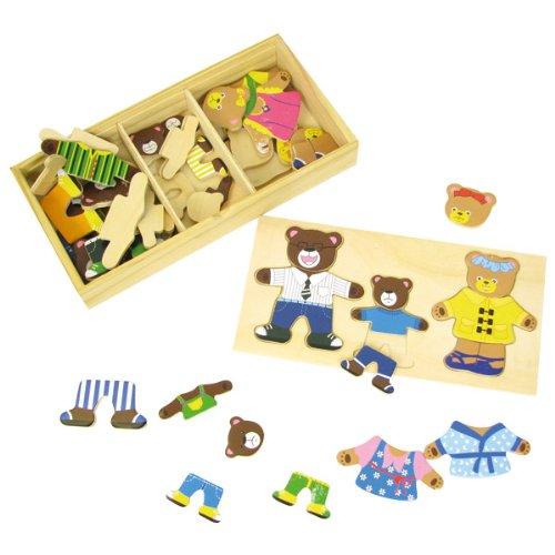 giocheria RDF0332 wood ' n ' play - puzzle-familie trägt -