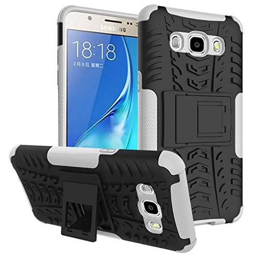 KolorFish Hybrid Shock Proof Back Cover Case for Samsung Galaxy J5 (2016) SM-J510 (New 2016 Model Edition) (White)