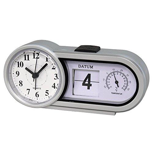 Genius Ideas ® - Reloj de Escritorio - Fecha + Temperatura
