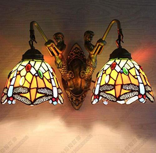 Tiffany-Art-Wandlampe, Garten-einzelne doppelte Klammer-Licht, Wohnzimmer-Schlafzimmer-Gang-Nachttisch-Wand-Lampe - Tiffany Wand Lampe