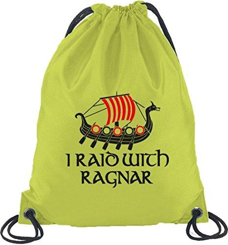 Shirtstreet24, Ho Razziato Con Ragnar, Vikings Turno Zaino Sport Beutel Limone