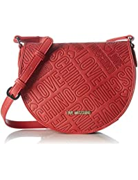 Love Moschino Damen Borsa Embossed Pu Rosso Schultertasche, Rot (Red), 18x23x8 cm