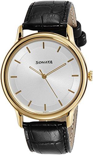 Sonata Sleek Analog Silver Dial Men's Watch-7128YL02 image