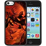 Iphone 5C Case, Dragon's Crown Sorceress Hard Plastic Anti-Slip Back Case Cover for Teen Girls Compatible with Iphone 5C