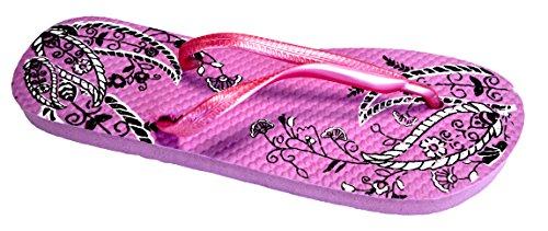 Octave® - Infradito da donna per l'estate e la spiaggia, diversi stili e colori Paisley Design - Pink