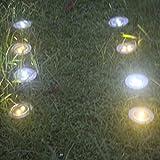 8 Stück Solarleuchten Bodenleuchte Garten LED Strahler mit Warmweiß Licht und 2LED Wasserfeste Bodenbeleuchtung Außen für Garten, Terasse von NORDSD Vergleich