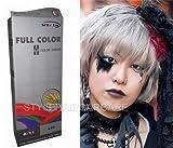 Permanente Haarfarbe Tönung Coloration Haar Cosplay Gothic Punk Ash Silber Grau 0/11 OHNE Parabene, Ammoniak, Silikone, Sulfate