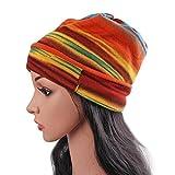 Das Kopftuch Damen Hut, Asnlove Unisex Damen Mode Multipurpose Hip-Hop Kopftücher 3D Blume Hut Bandanas Halstuch Biker Tuch Paisley Muster 26 x 26 CM, Orange