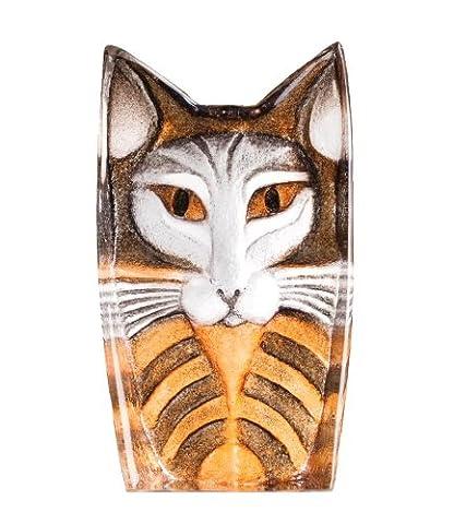 mats Jonasson Art en verre miniature Sculpture chat, Signée, authentique et NEUF en boîte