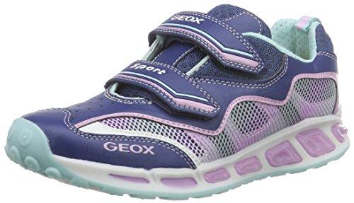 Geox J Shuttle Girl B, Scarpe da Ginnastica Bambina Multicolore (Avio/Pink)