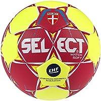 Select Unisex Match Soft–Balón de Balonmano, Color Rojo, Amarillo, Blanco, tamaño 1