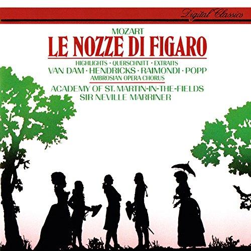 Mozart: Le nozze di Figaro (Highlights) de Sir Neville Marriner ...