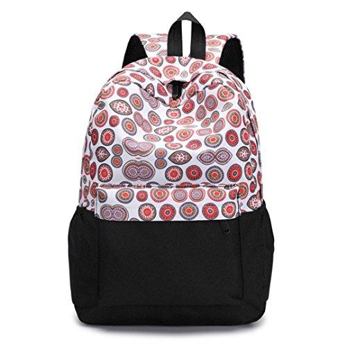 Frischer Stil Frauen Rucksäcke Blumendruck Bookbags Female Reiserucksack Reise Rucksack Backpack F