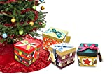 Pack of 4 Xmas Present Boxes Nested Oblong Folded Christmas Gift Box By Pilot Imports®