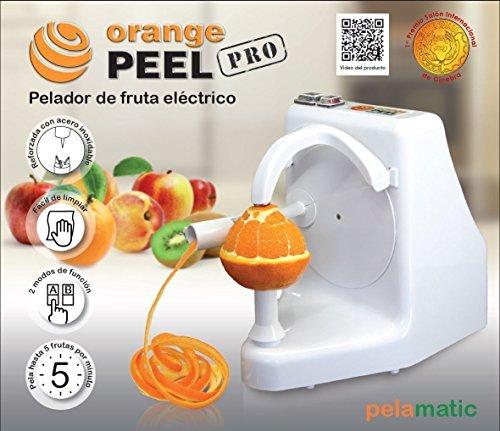 Pelamatic Orange peel Professional Independiente Universal electric peeler - peladores eléctricos (Universal electric peeler, Independiente, Blanco, Metal, Corriente alterna, 24 W)
