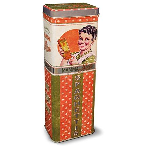 Natives 211137mamma mia scatola a spaghetti metallo 9,5x 6,5x 29cm