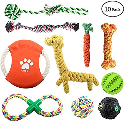 onbet Puppy Chew Toys Dog Teething Training, Cotton Puppies Rope Toy for Small Dogs
