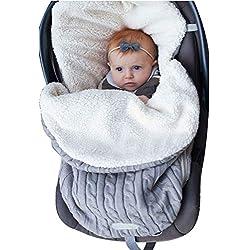 Bébé Wrap Couverture en polaire pour poussette Nid d'ange Sac de couchage en velours Plus.