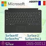 Microsoft Surface RT/Pro (2012)/2/Pro 2Touch Cover clavier Français AZERTY avec Non-backlit touches–Noir–OEM dans une boîte (sans emballage de détail)