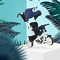 XMIMI Children Tricycle 3 Wheels Baby Balance Bike Lightweight Folding Trike Adjustable Seat Balance Training Bicycle for Infant Kids Boys Girls More than 12 Months