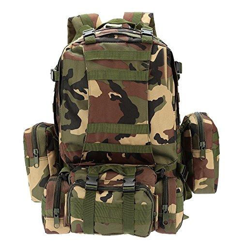 Lixada Multifunktions Militärischen taktischer Rucksack mit MOLLE Gurte Rucksack Sport Camping Reisen Wandern Tasche (Schwarz) Tarnfarbe 1