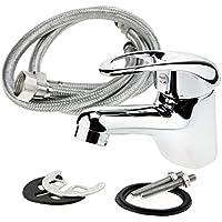 Generic qy-uk4–16feb-20lavandino–728* * * 3114* * 1N singola per lavabo Kinchen Kinchen rubinetto Oom Bas acqua tubo cromato UK rubinetto caldo e freddo, flessibile
