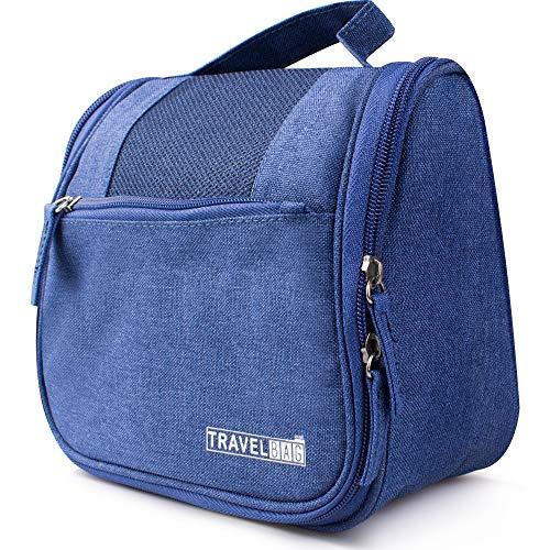 kulturtasche zum Aufhängen für Damen, Herren & Kinder, EasyTravel Kulturbeutel mit Haken zur Aufbewahrung- Waschtasche für Reisen, Fitness-Dunkelblau