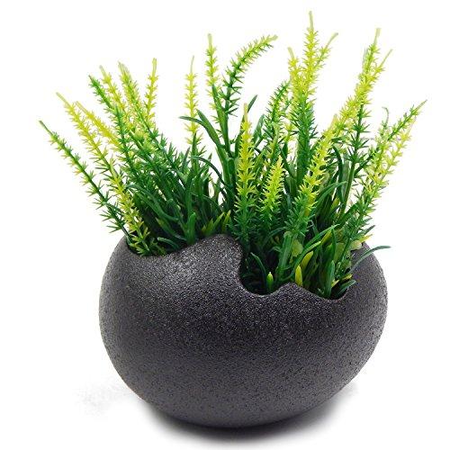 Offidix vaso da fiori forma di uovo bianco / nero vaso da fiori in ceramica moderno fiore semplice fioriera vasi da fiori bianchi per regalo di natale, vaso di bonsai casa e scrivania decorazione arte del fiore disposizione nero 1 pz