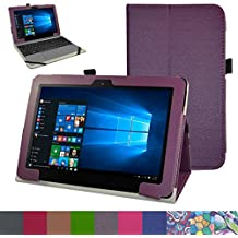 "ASUS T101HA / Transformer Book T101HA Funda,Mama Mouth Slim PU Cuero Con Soporte Funda Caso Case para 10.1"" ASUS Transformer Book T101HA Windows 10 Tablet 2016,Púrpura"