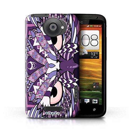 Kobalt® Imprimé Etui / Coque pour HTC One X / Singe-Pourpre conception / Série Motif Animaux Aztec Hibou-Pourpre